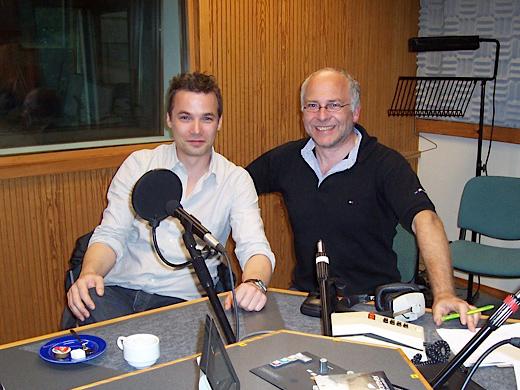Marc Secara im Studio des BRF mit Horst Senker